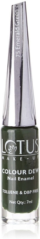 Lotus Colour Dew NailEnamel Emerald Green-75