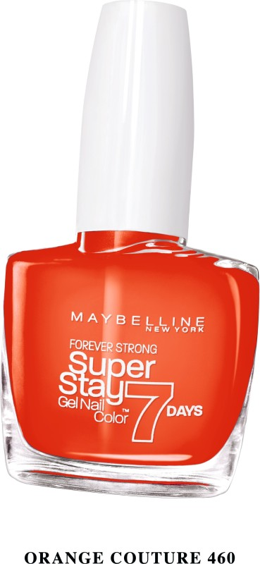 Maybelline SUPER STAY GEL NAIL COLOR COUTURE ORANGE(10 ml) SUPER STAY GEL NAIL COLOR