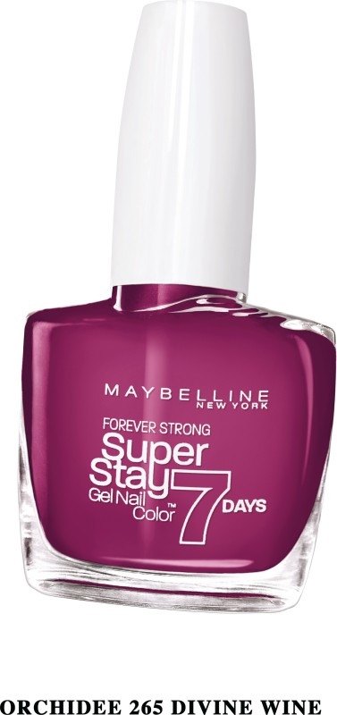 Maybelline SUPER STAY GEL NAIL COLOR WINE DIVINE(10 ml) SUPER STAY GEL NAIL COLOR