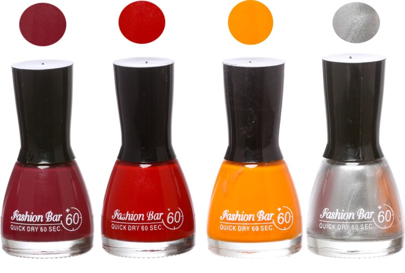 Fashion Bar New Multicolor Nail Polish Combo 106 Multicolor,(Pack of 4)