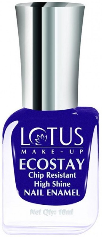 Lotus Make-Up Ecostay Chip Resistant High Shine Nail Enamel Purple Dazzle-E50(10 ml)