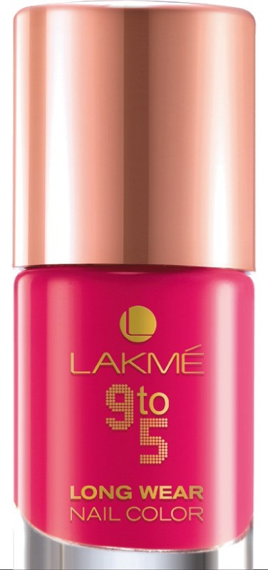 Lakme 9 To 5 Long Wear Nail Color Pink Blast(9 ml) 9 To 5 Long Wear Nail Color