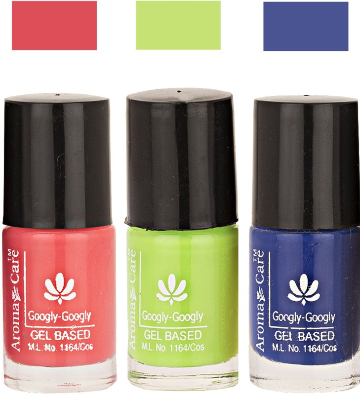 Aroma Care Googly Gel Nail Polish 46201638 Multicolor,(Pack of 3)