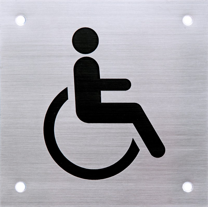 SHREYAS SIGNAGES Steel HANDICAP STEEL LOGO, PHYSICALLY DISABLE STEEL SIGN Name Plate(Multicolor)