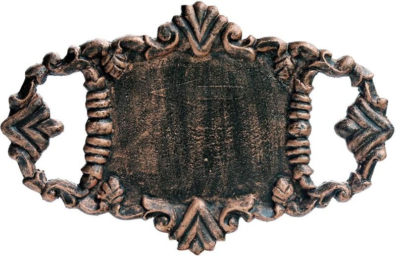 Karara Mujassme Cast Iron Victorian Style Name Plate(Brown)