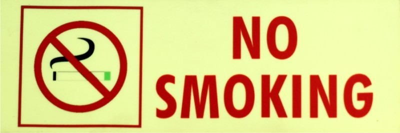 SIGNAGES Plastic NO SMOKING NIGHT GLOW SIGN Name Plate(Green)
