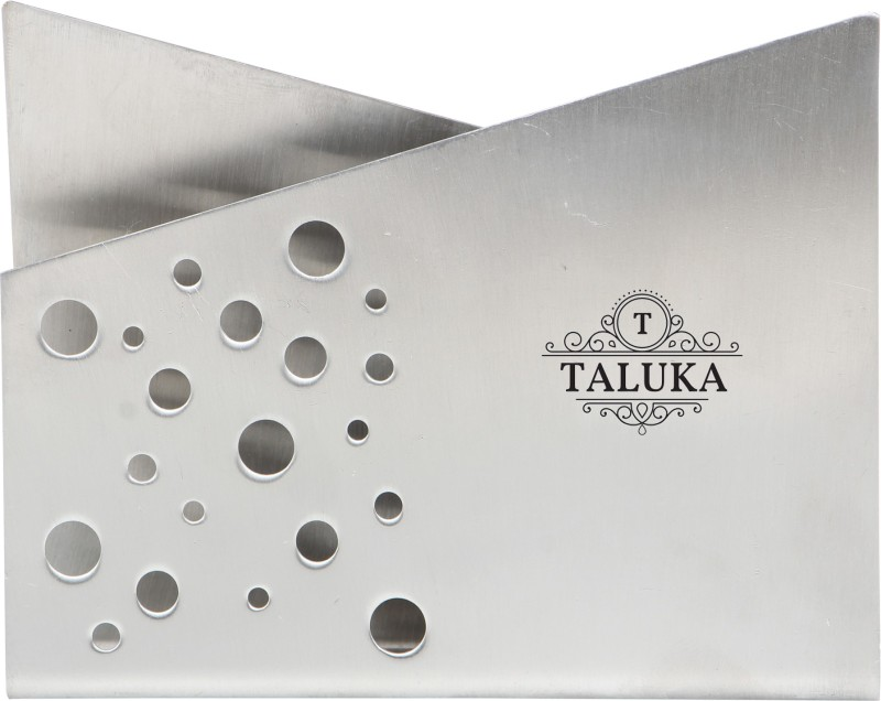 Taluka Napkin Holder Set of 1 Napkin Rings(Steel Silver)