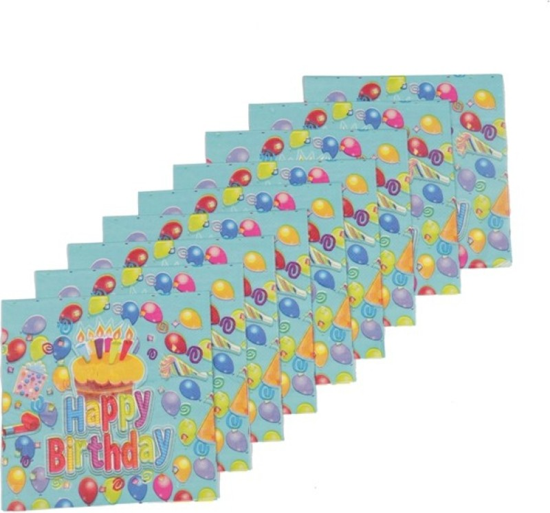 Funcart Frolic Birthday Multicolor Napkins(9 Sheets)