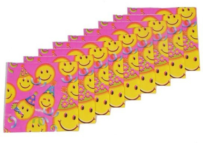 Funcart Smiley Theme Party Pink Napkins(9 Sheets)