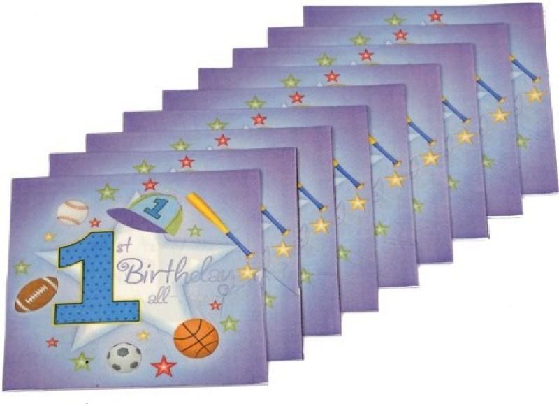 Funcart Sporty At 1 Multicolor Napkins(9 Sheets)