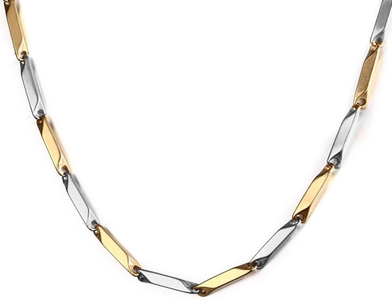 Nakabh Stunning Italian Solid Titanium Plated Stainless Steel Chain