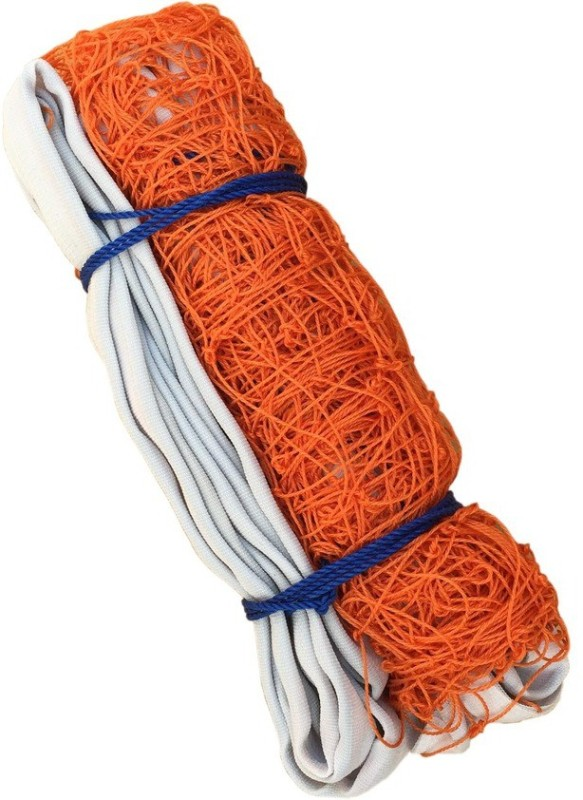 Sahni Sports Nylon Volleyball Net(White, Orange)