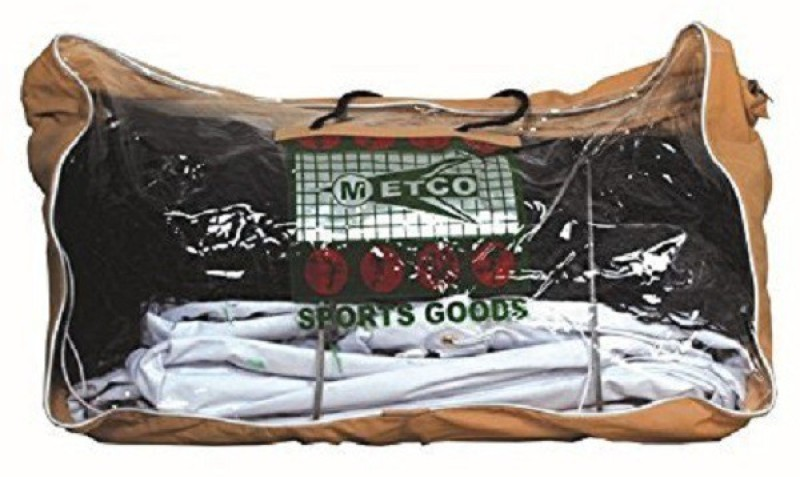 Metco Small Mesh All Single Twisted Tennis Net(Black)