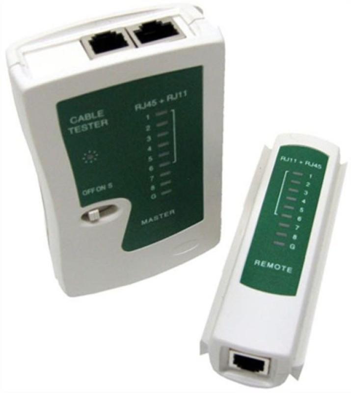 GoodsBazaar Network LAN Cable Tester RJ45 / RJ11 / RJ12 / Cat5 Network Interface Card(White)