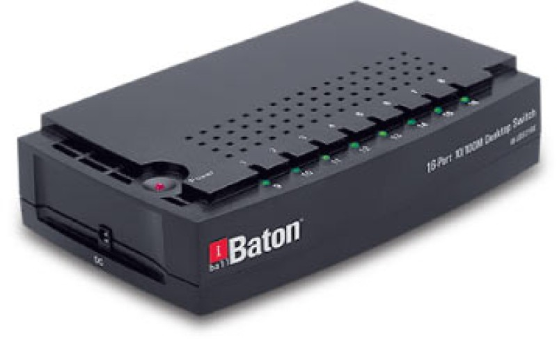 iBall 16-Port 10/100M Desktop Switch Network Switch(Black) image