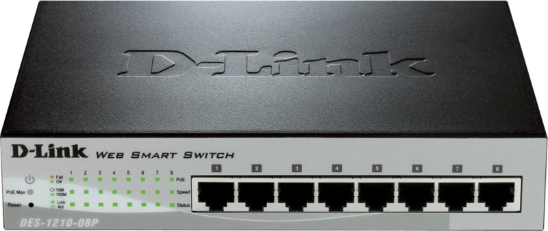 D-Link Des-1210-08p 8-Port Network Switch(Black) image