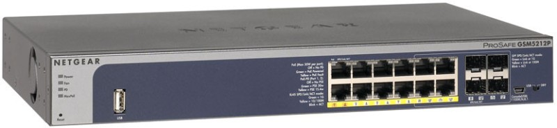 Netgear New Prosafe 12-Port Desktop Gigabit L2+ Managed Switch with Poe+ Network Switch(Silver) image