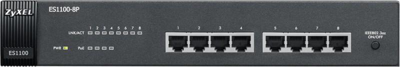 Zyxel ES1100-8P Network Switch(Black) image