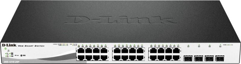 D-Link WebSmart DGS-1210-28P Ethearnet Network Switch(Black, White) image
