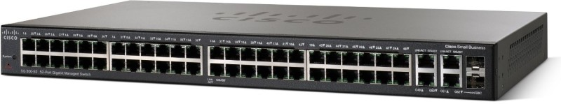 Cisco SG300-52 52-port Gigabit Managed Switch - SRW2048-K9-Eu Network Switch(Black) image
