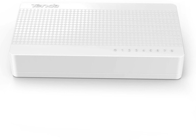 TENDA 8 Port 10/100 MBPS Network Switch(White) image