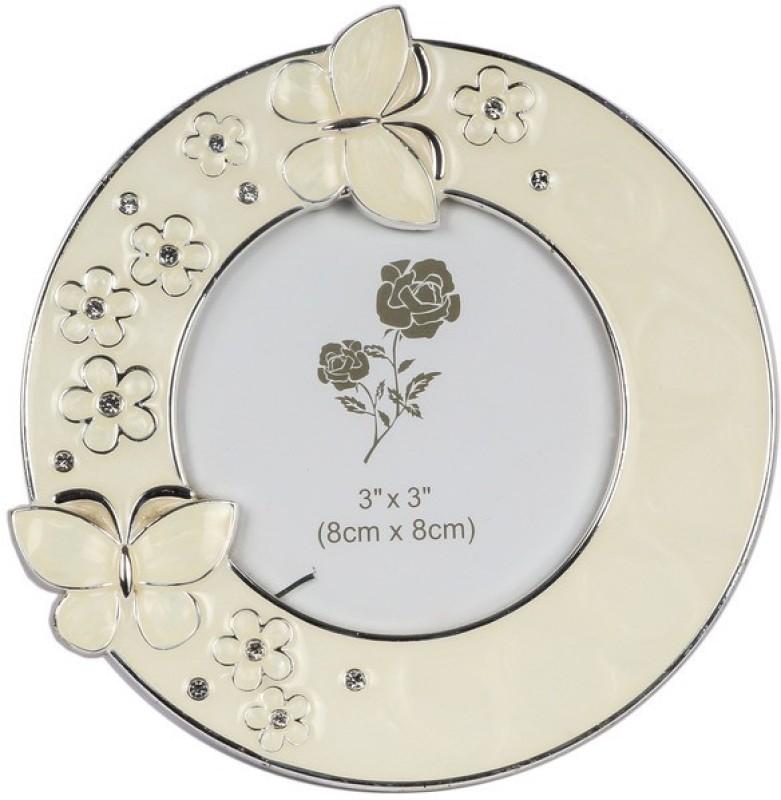 JewelandGifts Silver-plated Photo Frame(White, 1 Photos)