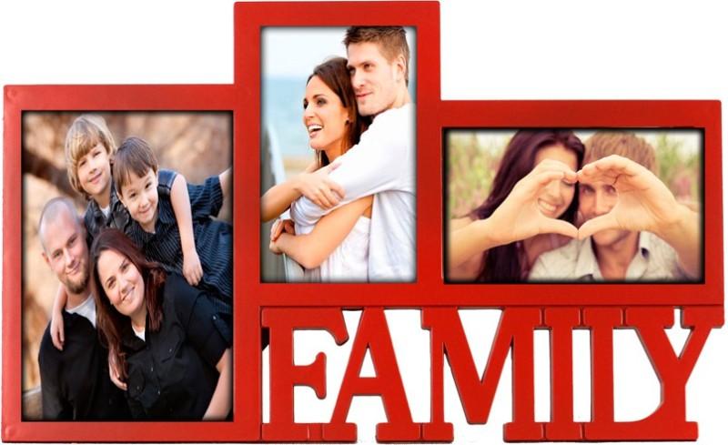 Deep Generic Photo Frame(Red, 3 Photos)