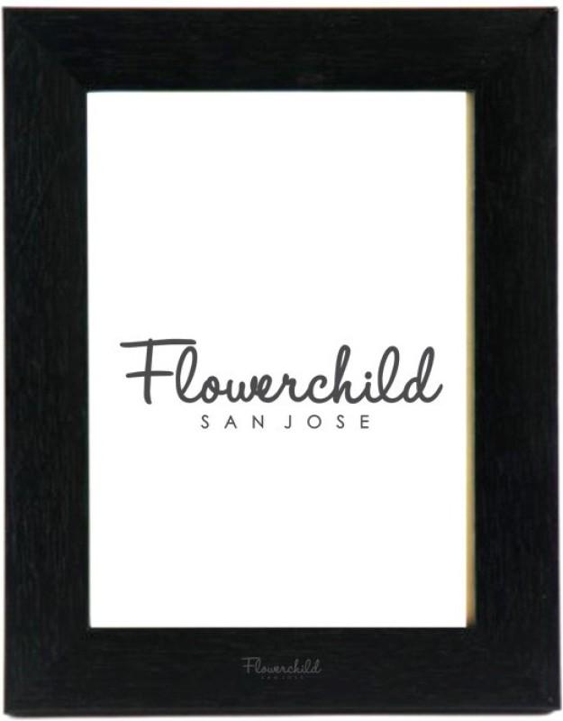 Flower Child MDF Photo Frame(Black, 2 Photos)