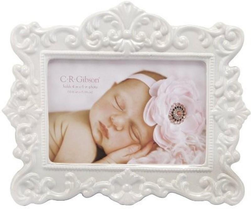 C.R. Gibson Ceramic Photo Frame(White, 1 Photos)