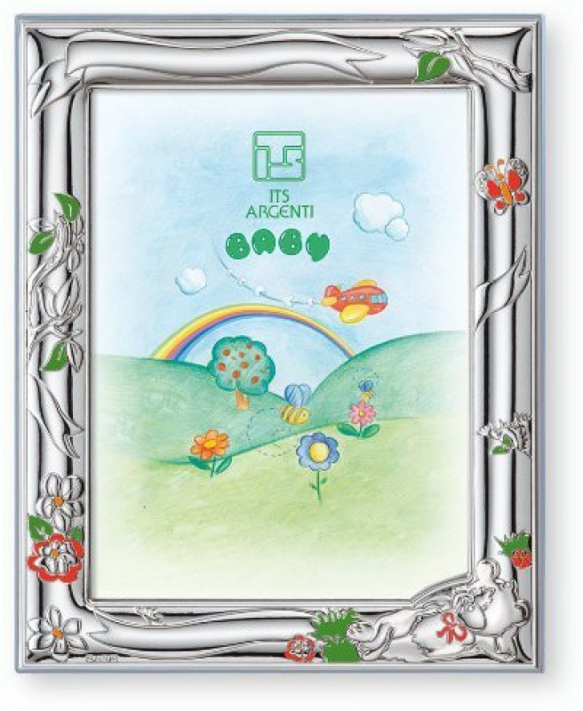 Silver Touch USA Silver-plated Photo Frame(Blue, 1 Photos)