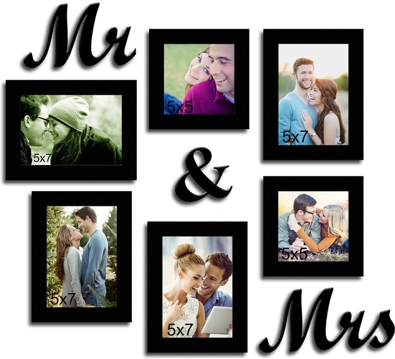 Painting Mantra MDF Photo Frame(Black, 6 Photos)