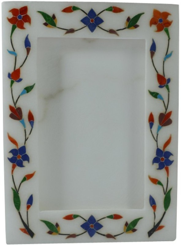 Pooja Creation Stoneware Photo Frame(White, 1 Photos)