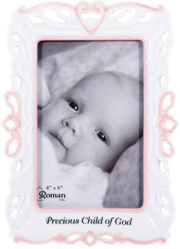 Roman Wood Photo Frame(White, 1 Photos)