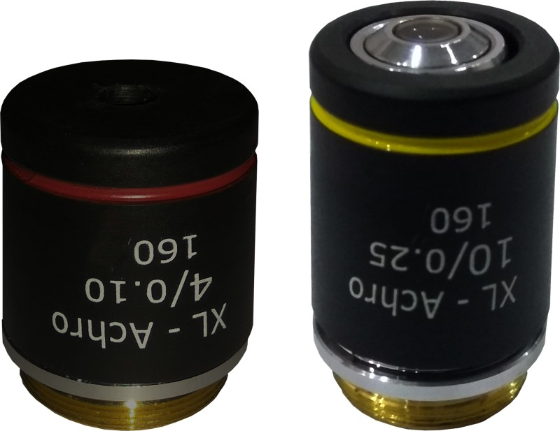 LABOVISION Jis achro Semi Plain Objective 4x 10x Objective Microscope Lens