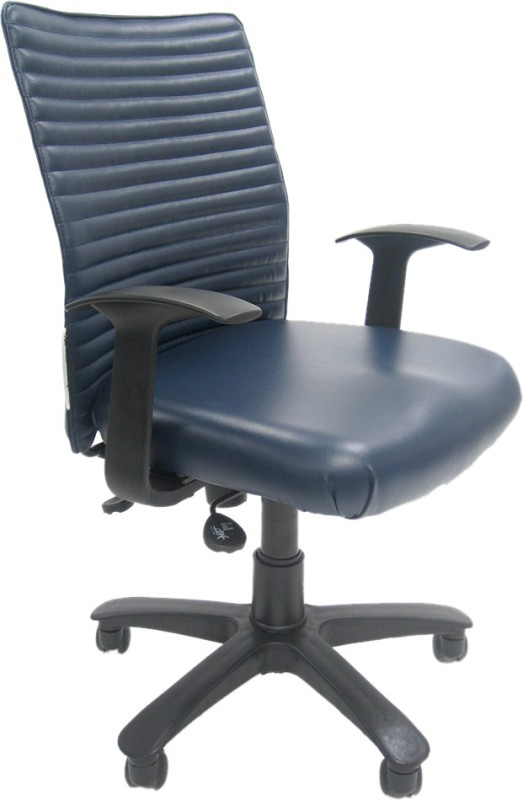 Chromecraft Fabric Office Arm Chair(Blue)