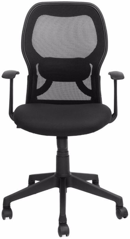 Nilkamal Matrix Fabric Office Arm Chair(Black)