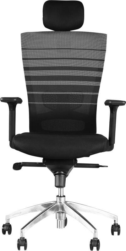 HomeTown ERGO Fabric Office Arm Chair(Black)