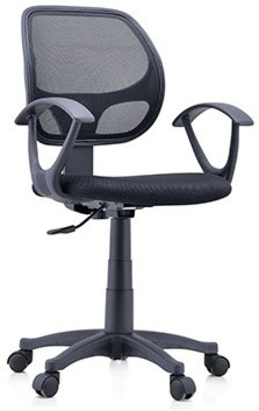 Urban Ladder Eisner Fabric Study Arm Chair(Black)