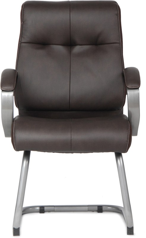 HomeTown Hugo Small Leatherette Office Arm Chair(Brown)