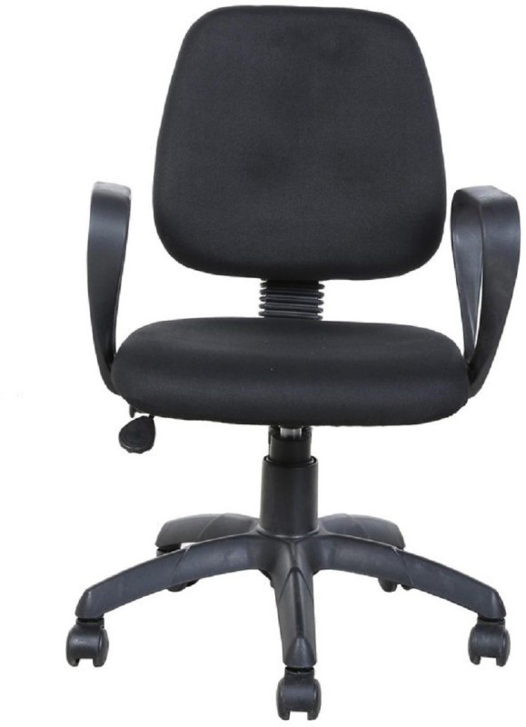 Parin Fabric Office Arm Chair(Black)