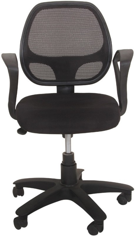 Ks chairs Fabric Study Arm Chair(Black)