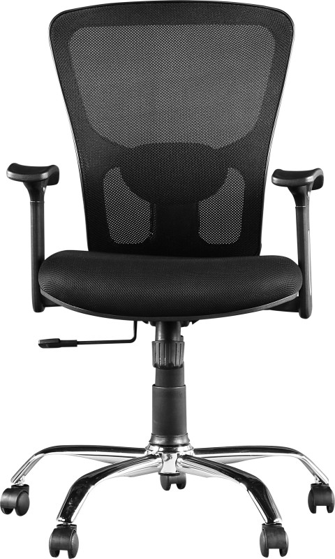 HomeTown OLIVIA Fabric Office Arm Chair(Black)