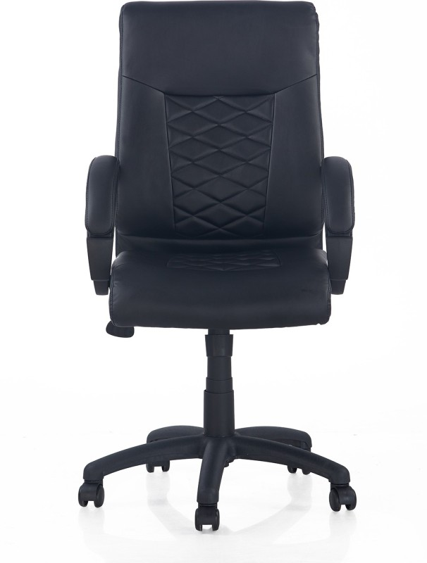 Nilkamal Majestic Leatherette Office Arm Chair(Black)