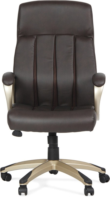 HomeTown Hugo Leatherette Office Arm Chair(Brown)
