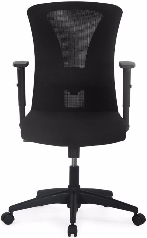 Nilkamal Lexa Fabric Office Arm Chair(Black)