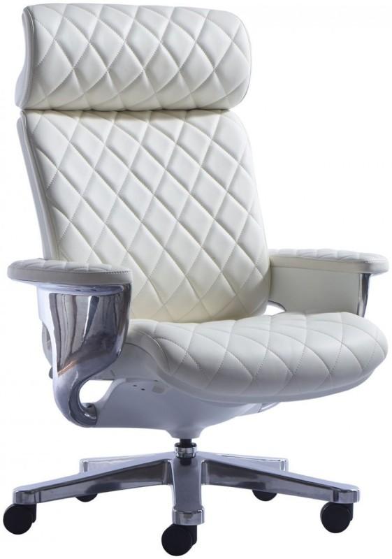 HOF Kenzo 551 Premium Leatherette Office Arm Chair(White)