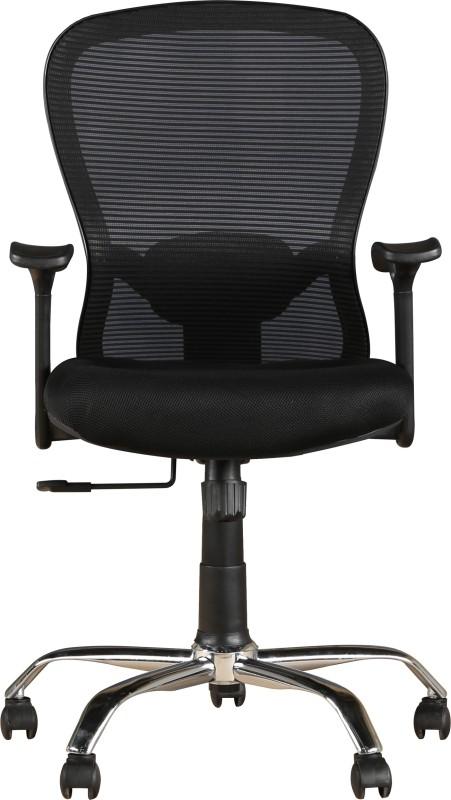 HomeTown PARIS Leatherette Office Arm Chair(Black)