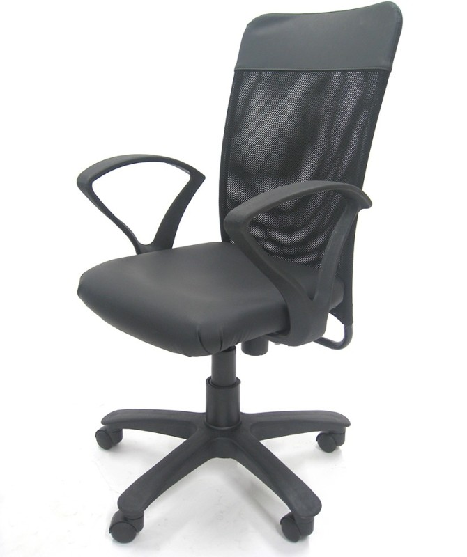 Chromecraft Fabric Office Arm Chair(Grey)