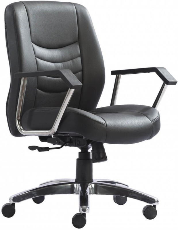 HOF ELDO 432 N Premium Synthetic Fiber Office Arm Chair(Black)