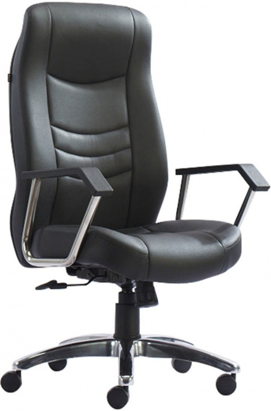 HOF Eldo 431N Premium Leatherette Office Arm Chair(Black)